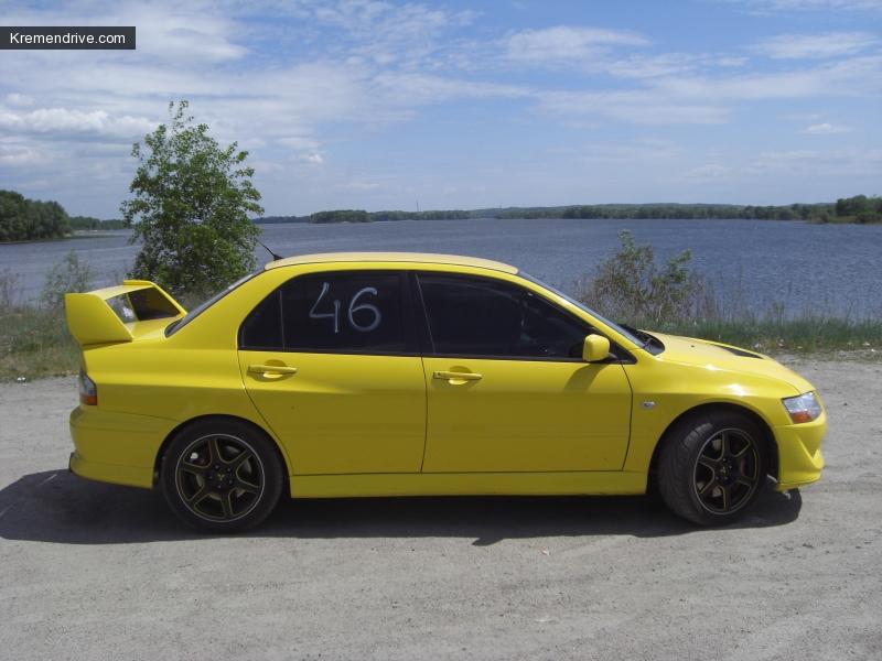 Автомобиль нашего чемпиона Lancer evolution VIII